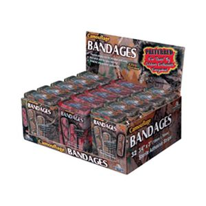 River's Edge Products Bandage Display 15 Tins Of 32 Camo 320