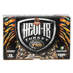 "Hevi-Shot Hevi-18 Turkey 12 Gauge Ammunition 5 Round Box 3-1/2"" #9 Tungsten Lead Free 2-1/4oz 1250 fps"