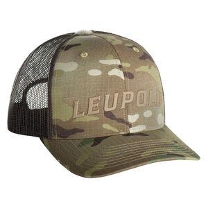 Leupold Wordmark Logo Trucker Hat OSFA Snap Back Adjustment Multicam
