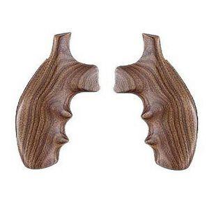 Hogue Fancy Monogrip S&W K, L Frame Round Butt Revolver Finger Groove Pau Ferro Wood 19300