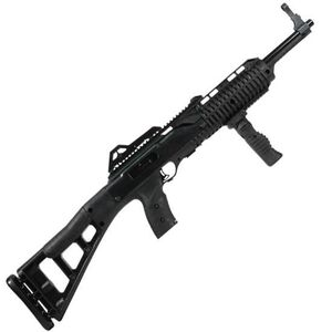 "Hi-Point Carbine Semi Automatic Rifle 9mm Luger 16.5"" Barrel 10 Rounds Polymer Stock Black Finish with Forward Grip 995TSFG"
