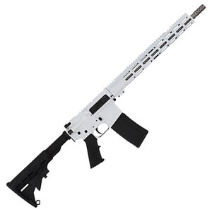 "GLFA .223 Wylde Rifle .223 Wylde Semi-Auto Rifle 16"" Stainless Steel Barrel 30 Rounds Flat Top Optics Ready Synthetic Black Stock White Finish"