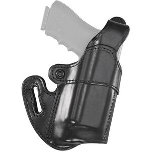 Aker Leather 167 Nightguard S&W M&P 9mm and .40 S&W with M3/TLR-1/TLR-2 Belt Holster Right Hand Leather Plain Black H167BPRU-MP40M3