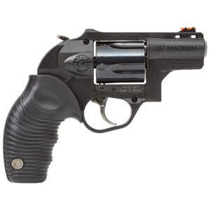 "Taurus 605 Protector Double Action Revolver .357 Magnum 2"" Barrel 5 Rounds Fiber Optic Front Sight/Fixed Rear Sight Polymer Frame Ridged Rubber Grip Black Finish"