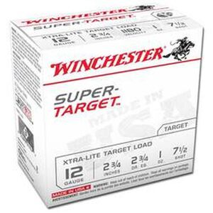 "Winchester Super-Target 12 Gauge Ammunition 25 Rounds 2.75"" #7.5 Lead 1 Ounce TRGTL127"