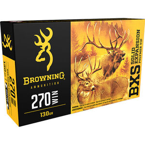 Browning .270 Winchester Ammunition 200 Rounds BXS 130 Grains