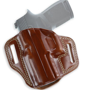 Galco Combat Master 1911 Government without Rails Belt Holster Left Hand Leather Tan