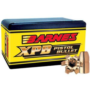 "Barnes Handgun XPB Lead Free Copper X-Bullet .460 S&W Caliber .451"" Diameter 200 Grain Solid Copper Hollow Point Projectile 20 Per Box"