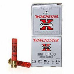 "Winchester Super-X .410 2-1/2"" #7.5 Shot 1/2oz 25 Rnd Box"