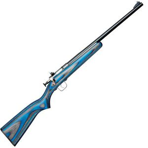 "Keystone Arms Crickett Gen 2 Single Shot Bolt Action Rifle .22 LR 16.125"" Blued Barrel Iron Sights Laminate Wood Stock Blue Finish KSA2222"