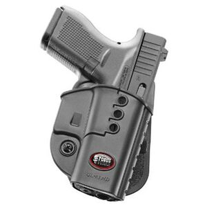 Fobus Evolution Holster Glock 43 Right Hand Paddle Attachment Polymer Black