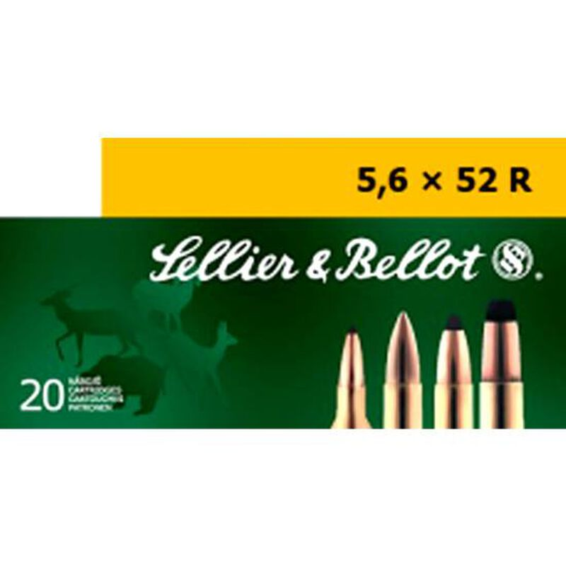 Sellier & Bellot 5.6x52R Ammunition 20 Rounds 70 Grain Full Metal Jacket 2,860fps