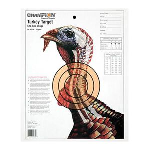 """Champion Turkey Sight In Target Life Size 11""""x14"""" Paper 12 Pack 45780"""