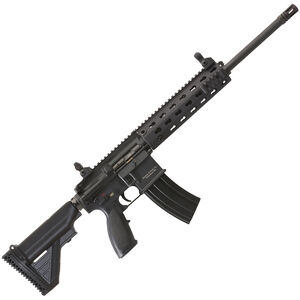 """H&K MR556A1 Semi Auto Rifle 5.56 NATO 16.5"""" Barrel 30 Rounds H&K Free Float Modular Rail System Two Stage Trigger Collapsible Stock Black Finish MR556-A1"""