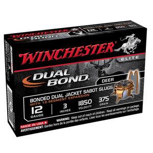 "Winchester Dual Bond 12 Ga 3"" 375gr JHP Sabot Slug 5 rds"