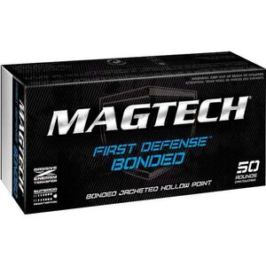 Magtech First Defense 9mm Luger Ammunition 50 Rounds Subsonic Bonded JHP 147 Grains 9BONC