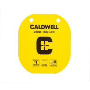 """Caldwell AR500 8"""" Caldwell C Gong Target Plate Yellow 1116703"""