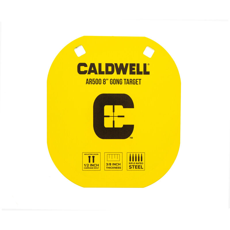"Caldwell AR500 8"" Caldwell C Gong Target Plate Yellow 1116703"