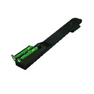 "HIVIZ Universal Adjustable Rear Rifle Sight 3/8"" Dovetail Green LitePipes"