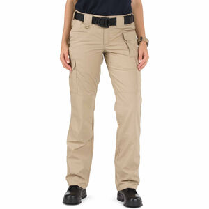 5.11 Tactical Women's Taclite Pro Pants Poly/Cotton Ripstop Size 16 Long Khaki 64360
