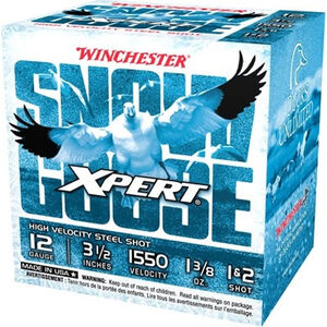 """Winchester USA Xpert Snow Goose 12 Gauge Ammunition 25 Rounds 3-1/2"""" Shell #1 and #2 Steel Shot 1-3/8oz 1550fps"""