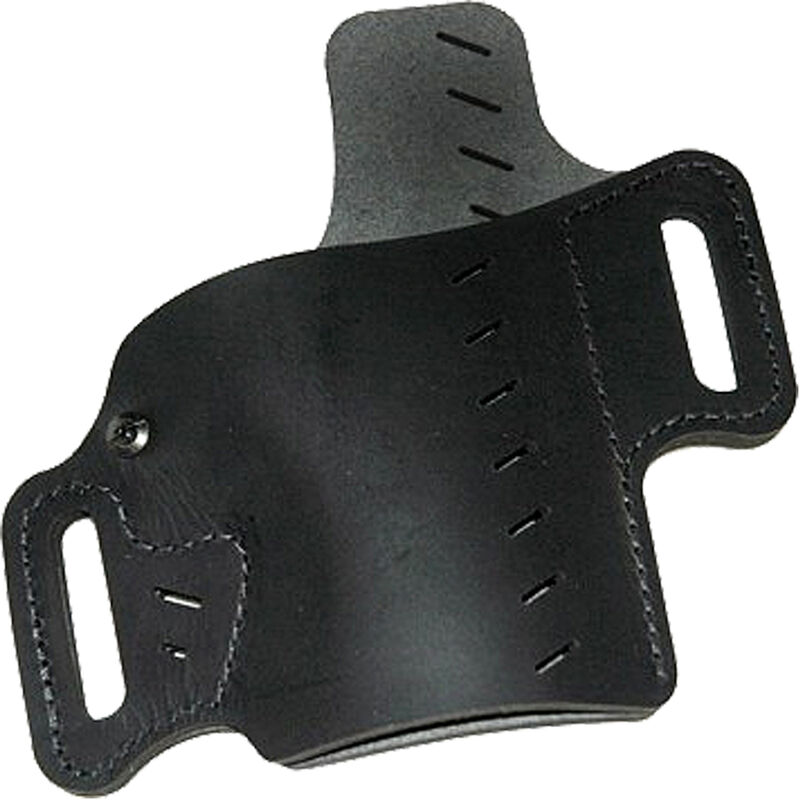 VersaCarry Recruit Holster Size 1 Most Full Size and Compact Pistols OWB Belt Slide Holster with Forward Cant and Raised Back Right Handed Leather Black