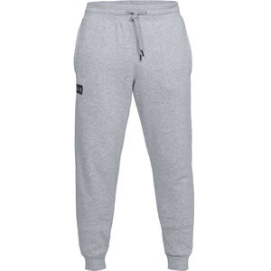 Under Armour Rival Fleece Joggers Cotton Polyester Blend Men's Small Steel Light Heather