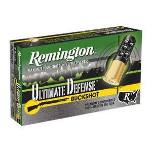 "Remington 12 Gauge Ammunition 5 Rounds 2.75"" Eight Pellets 00 Buckshot"