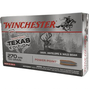 Winchester Super X .270 Win Ammunition 20 Rounds Texas Edition Power Point 150 Grains