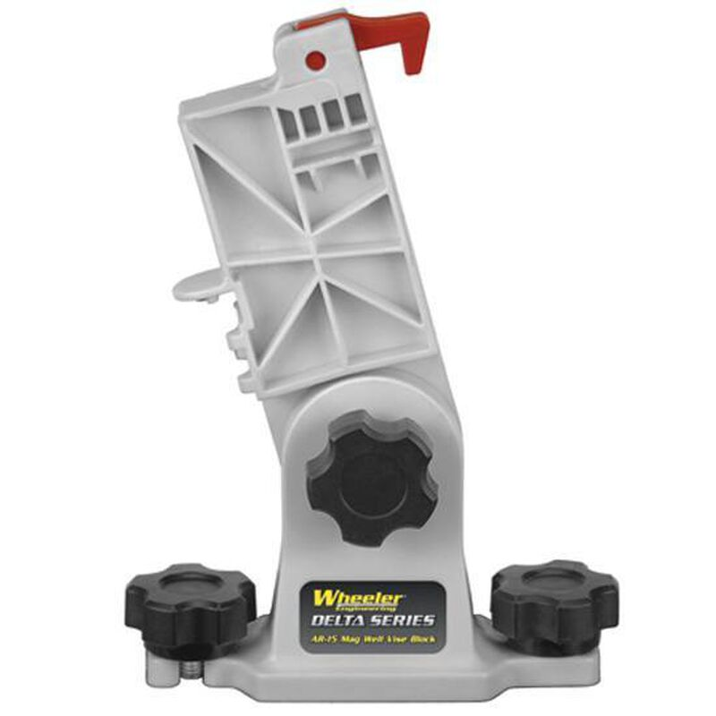 Wheeler Engineering AR-15 Mag Well Vise Block Polymer Gray 156211