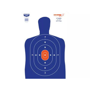"Birchwood Casey EZE-Scorer Silhouette Paper Targets 12""x18"" Blue 8 Pack"