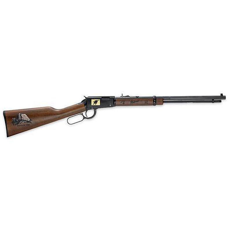 """Henry Repeating Arms Special Edition Philmont Scout Ranch Lever Action Rifle .22 Caliber 20"""" Octagon Barrel Up to 21 Rounds American Walnut Stock Blue Barrel"""