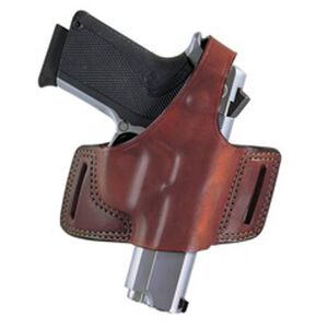 Bianchi Model 5 Black Widow Belt Slide Colt 1911Government/Commander Outside the Waistband Holster Right Hand Thumbsnap Leather Plain Tan 25226