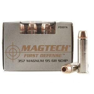 Magtech First Defense .357 Magnum Ammunition 20 Rounds SCHP 95 Grains FD357A