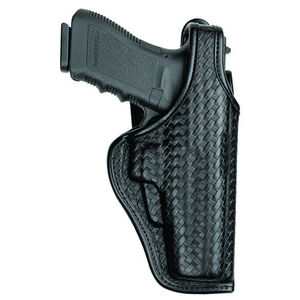 Bianchi 7920 Defender II Duty Belt Holster Left Hand Fits S&W 411/909 Leather Plain Black