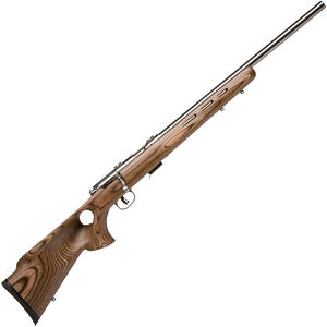 "Savage Arms 93BTVS Bolt Action Rifle .22 WMR 21"" Stainless Steel Bull Barrel 5 Rounds Natural Wood Thumbhole Stock"