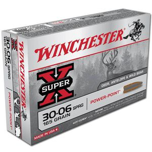 Winchester Super X .30-06 Springfield Ammunition 20 Rounds JSP 165 Grains X30065