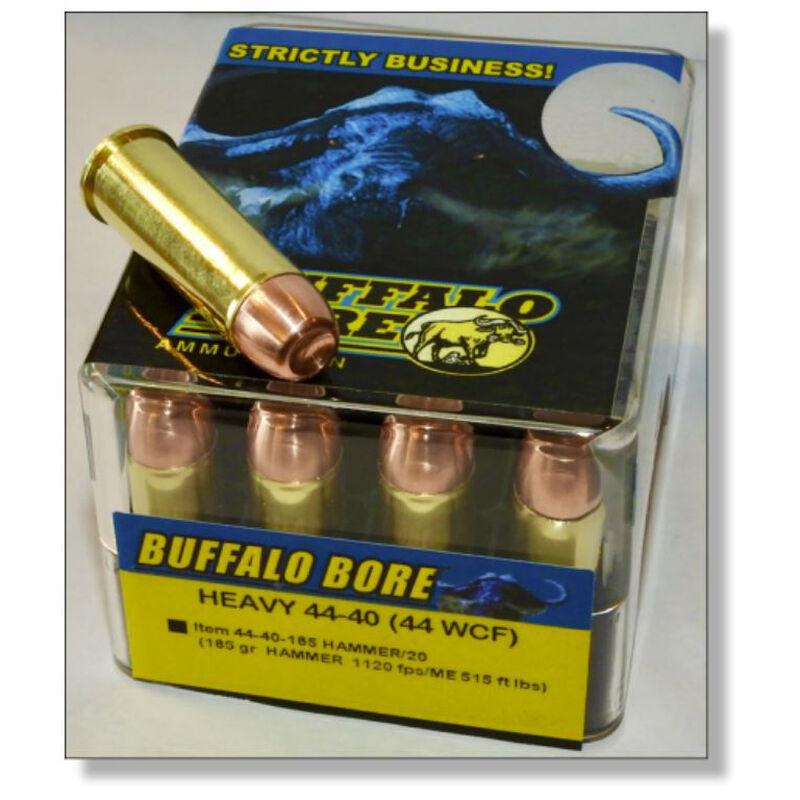 Buffalo Bore Heavy .44-40 Winchester Ammunition 20 Rounds HAMMER 185 Grain