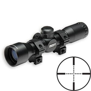 Keystone Sporting Arms 4x32mm Chipmunk Crickett Rifles Rimfire Riflescope Mil-Dot Reticle 1/4 MOA Black Finish