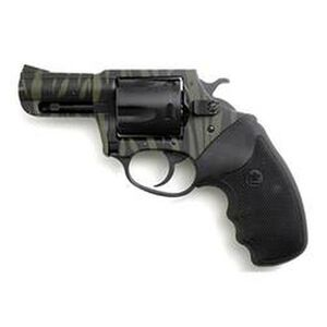 "Charter Arms Model 24420 Bulldog Revolver .44 Special 2.5"" Barrel 5 Rounds Rubber Grips Black and Tiger Finish"