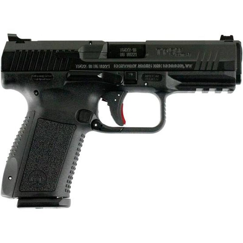 """Century Arms Canik TP9SF Elite-S 9mm Luger Semi Auto Pistol 15 Round 4.19"""" Barrel Trigger Stop Interchangeable Grips Black Polymer Frame Black Finish"""