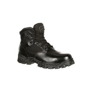 """Rocky International 6"""" Side Zipper Men's Alpha Force Boot Waterproof Size 8 Leather Black"""