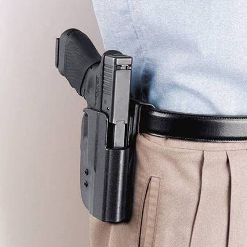 Uncle Mike's Kydex Ruger P85, P89, P90, P91 Paddle Holster Right Hand Kydex  Black 54151