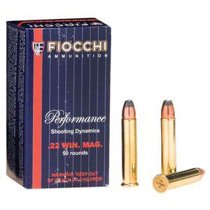 FIOCCHI .22 WMR Ammunition 50 Rounds, JSP, 40 Grains