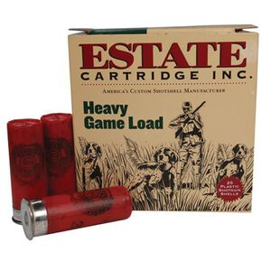 "Ammo 12 Gauge Estate Cartridge Heavy Game 2-3/4"" #8 Lead 1-1/8 Ounce 1255 fps 25 Rounds HG128"