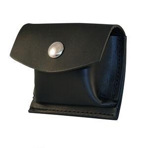 "Boston Leather Rubbler Glove CPR Shield Pouch 2.25"" Belt Nickel Snap Leather Plain Black 5640-1-N"