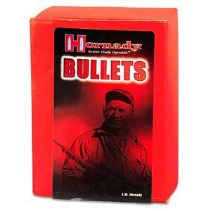 "Hornady .45 Caliber .451"" Diameter 230 Grain Flat Base Round Nose Full Metal Jacket Bullet 100 Count 45177"