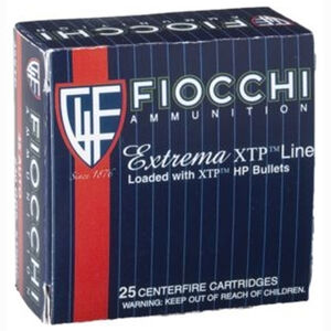 FIOCCHI Extrema XTP .38 Special +P Ammunition 500 Rounds Hornady XTP HP 125 Grains 38XTPP25