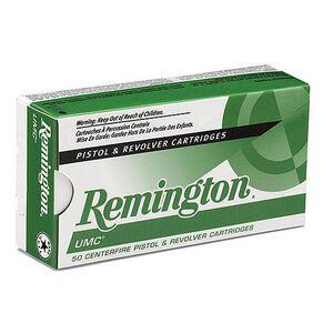 Remington UMC 9mm Luger Ammunition 50 Rounds 124 Grain Full Metal Jacket 1100fps