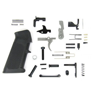 TacFire AR-15 USA Made Lower Parts Kit With A2 Grip Black LPK01-USA